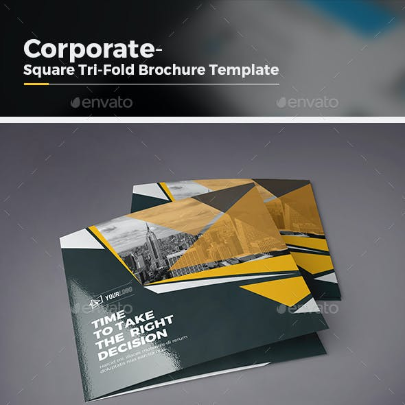 Square Tri-fold Brochure-Multipurpose