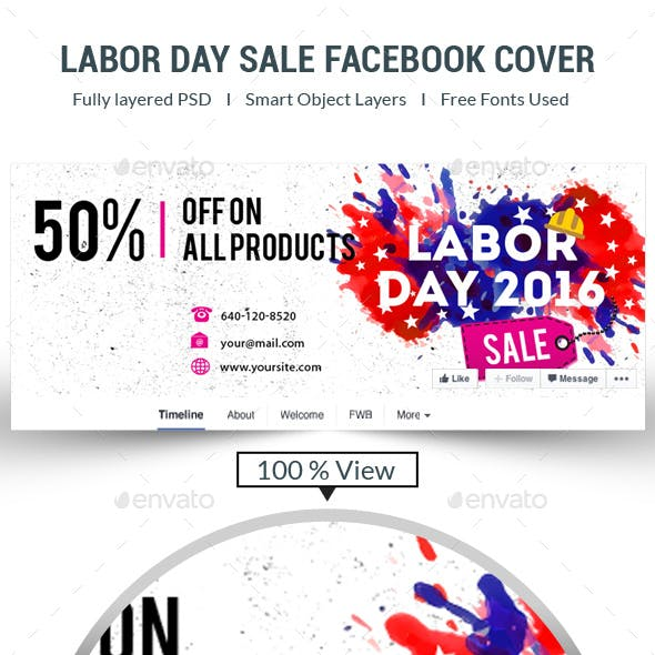 Labor Day Facebook Cover