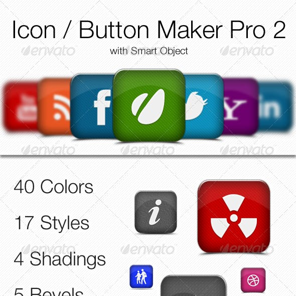 Icons / Buttons Maker Pro 2