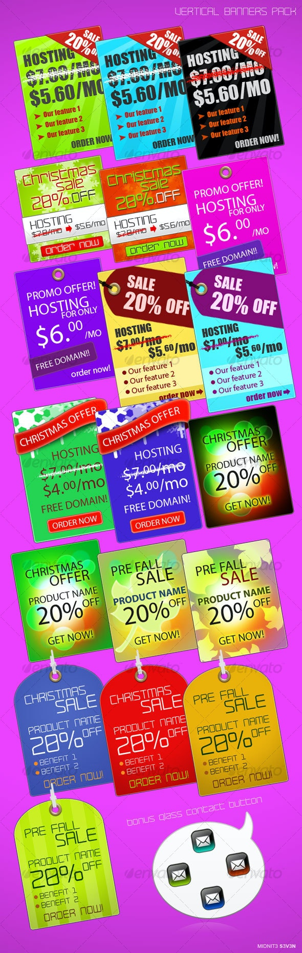 Vertical Banners Pack - Web Elements
