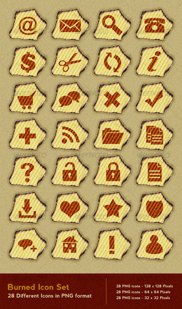 Burned Icon Set - Miscellaneous Icons