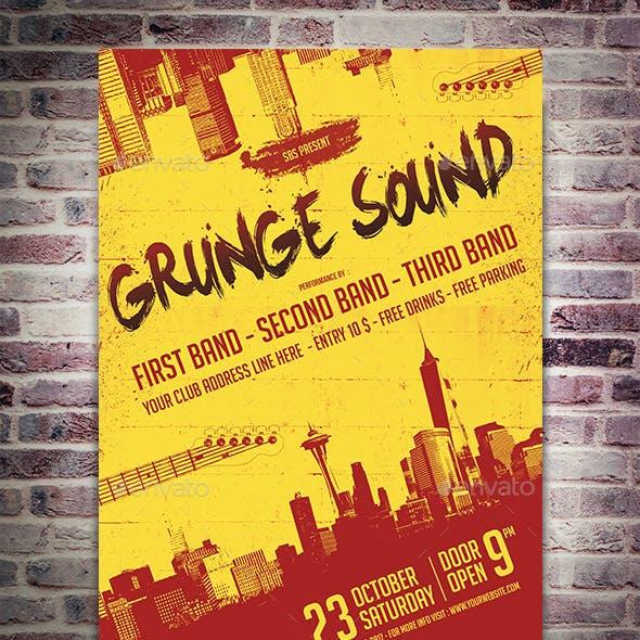 Grunge Sounds Flyer Template