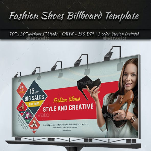 Fashion Shoes Billboard Templates