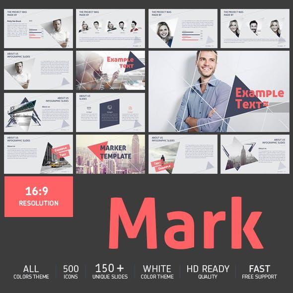 Mark triangle Presentation powerpoint