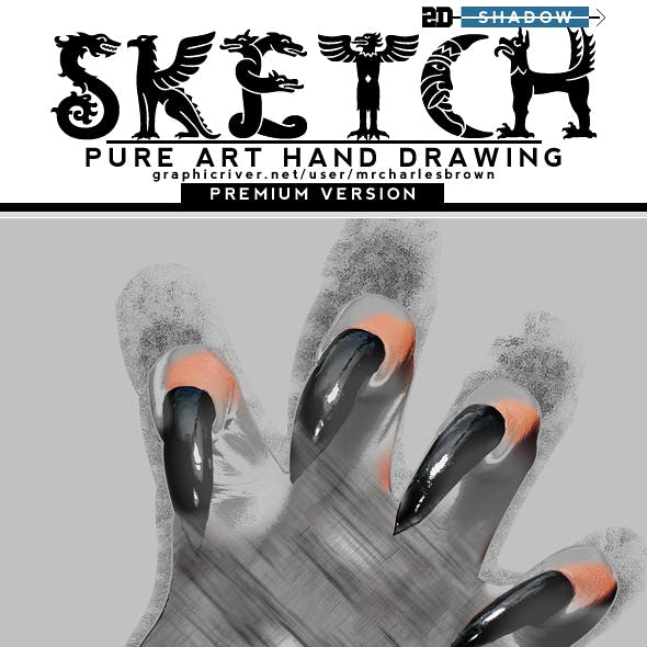 2D Shadow Sketch – Pure Art Hand Drawing 148