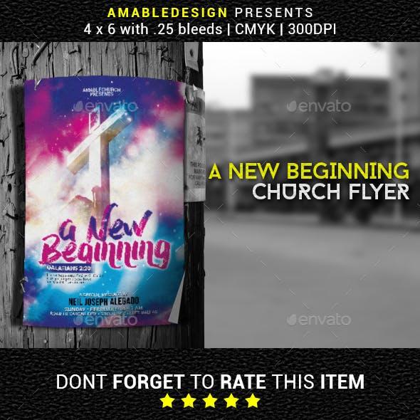 A New Beginning Church Flyer/Poster