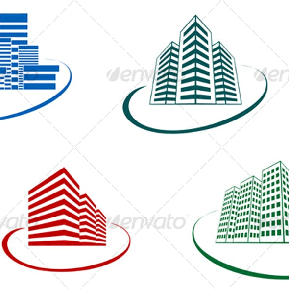 Symbols of modern buildings