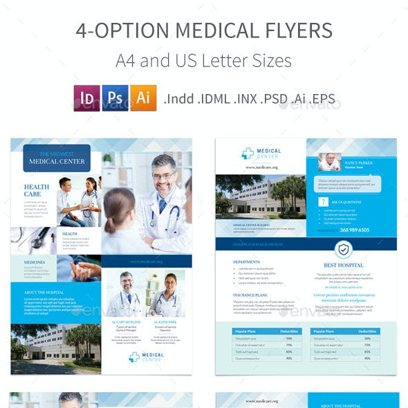Medical Flyers 4 – 4 Options