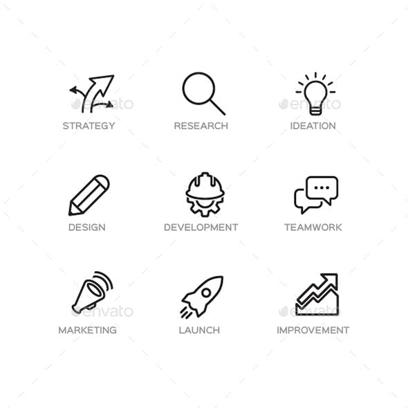 Business Timeline Icons