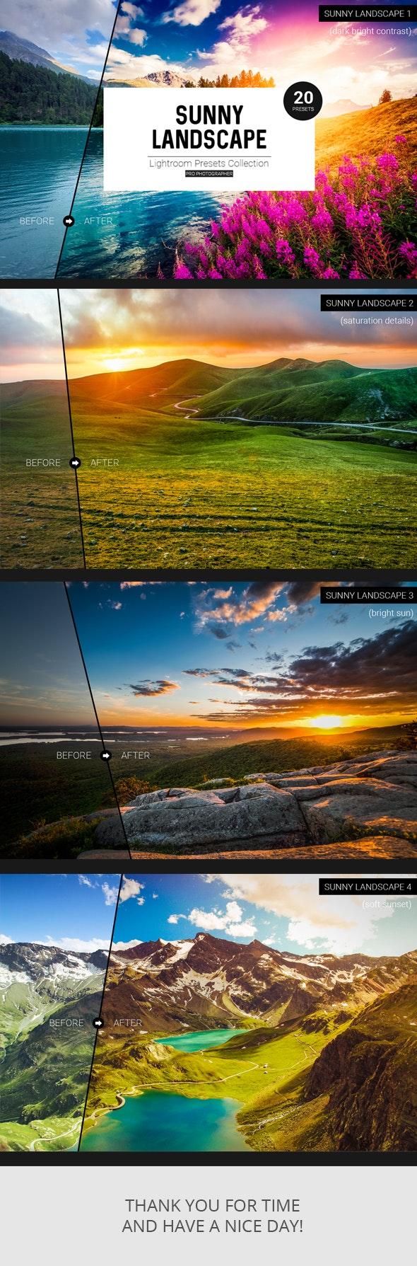 Sunny Landscape Lightroom Presets - Landscape Lightroom Presets
