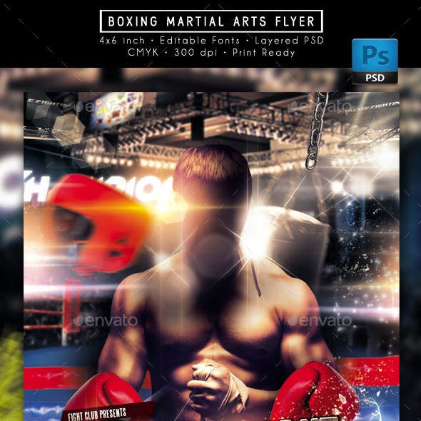 Boxing Martial Arts Flyer