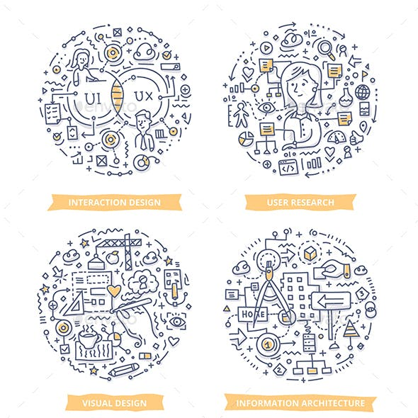 User Experience Doodle Illustrations