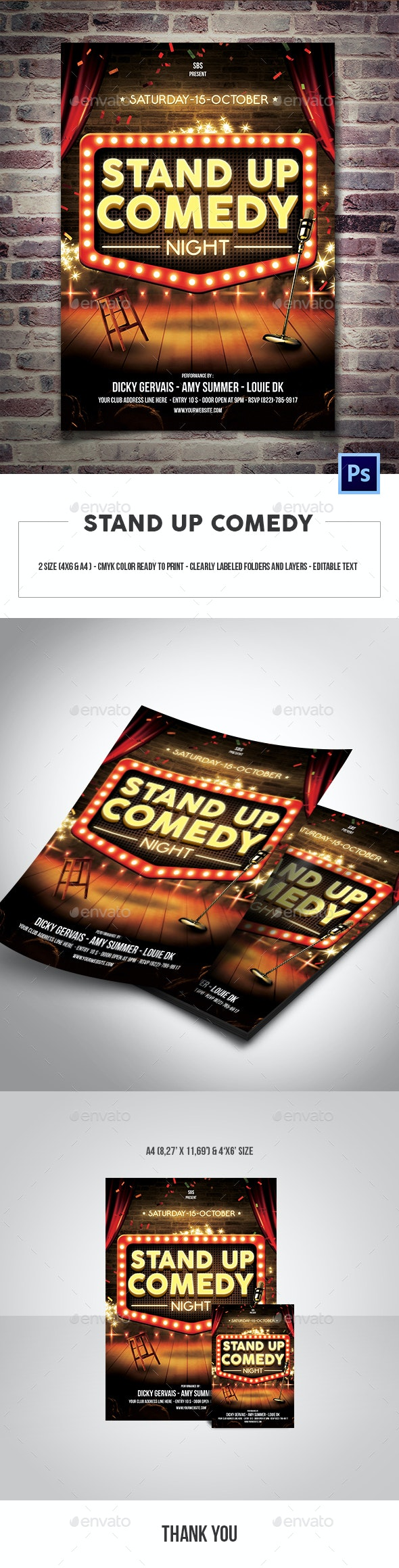 Stand Up Comedy Flyer Template - Events Flyers