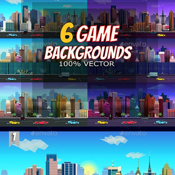6 City Game Backgrounds