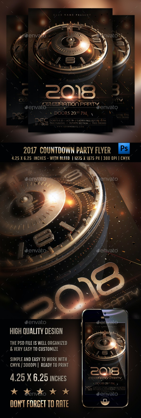 New Year Countdown Flyer - Events Flyers
