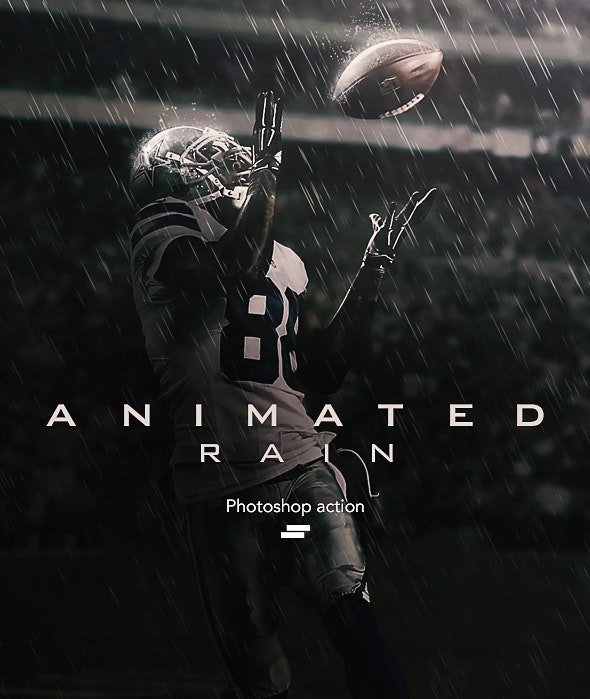 Gif Animated Rain Photoshop Action - Photo Effects Actions