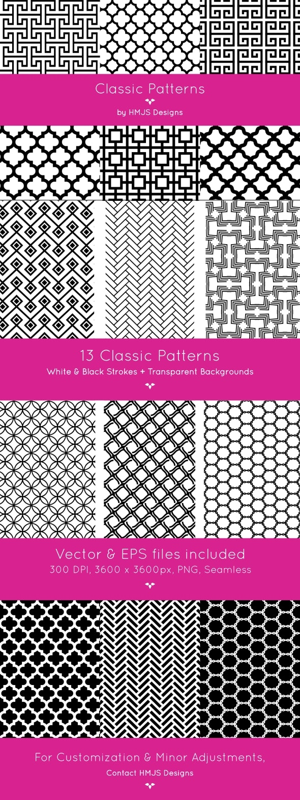Classic Patterns - Textures / Fills / Patterns Photoshop