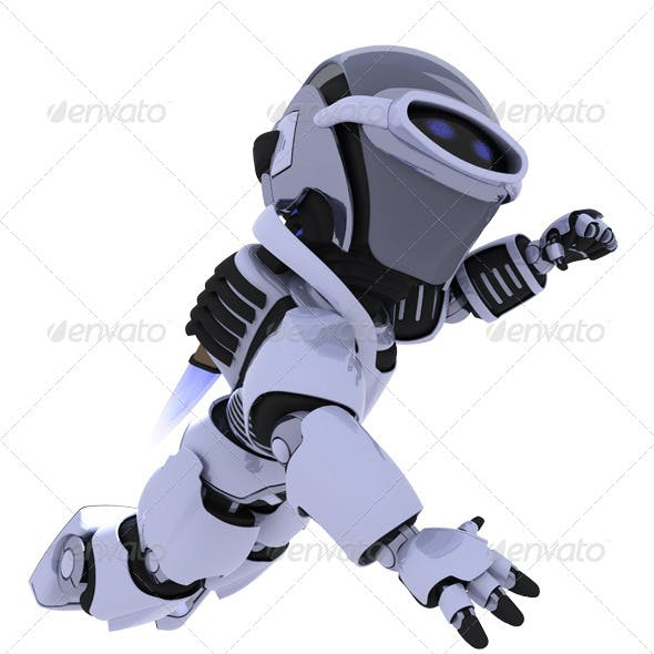 Robot with jetpack