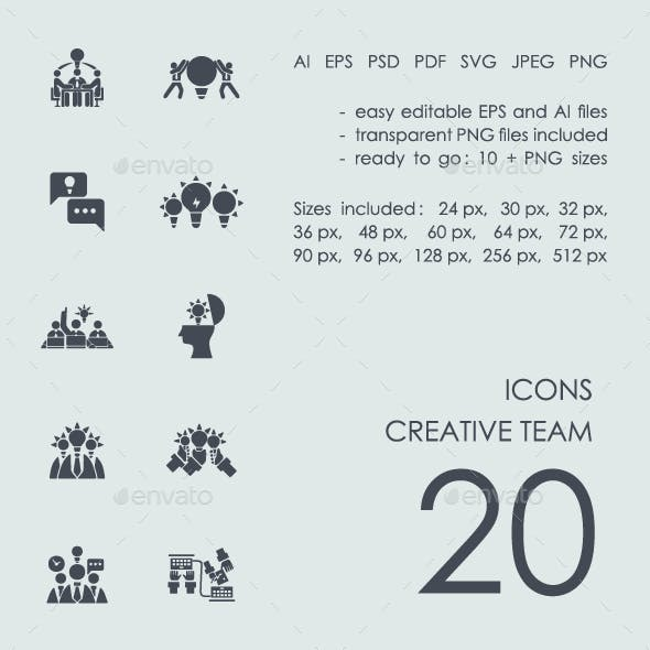 Creative team icons