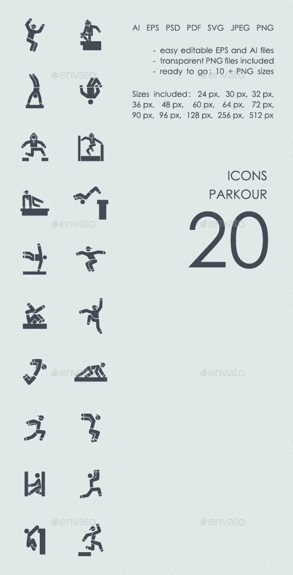Parkour icons - People Characters