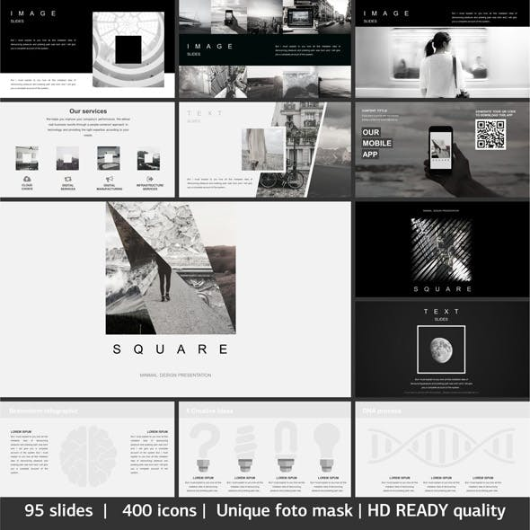 Square Minimal Keynote Template