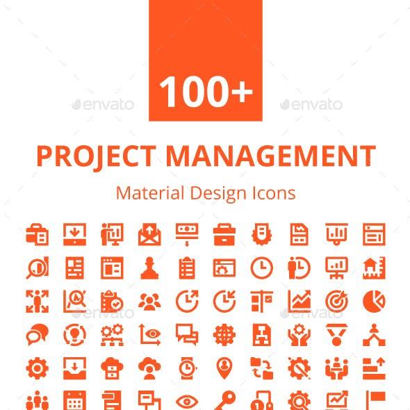 100+ Project Management Icons Set