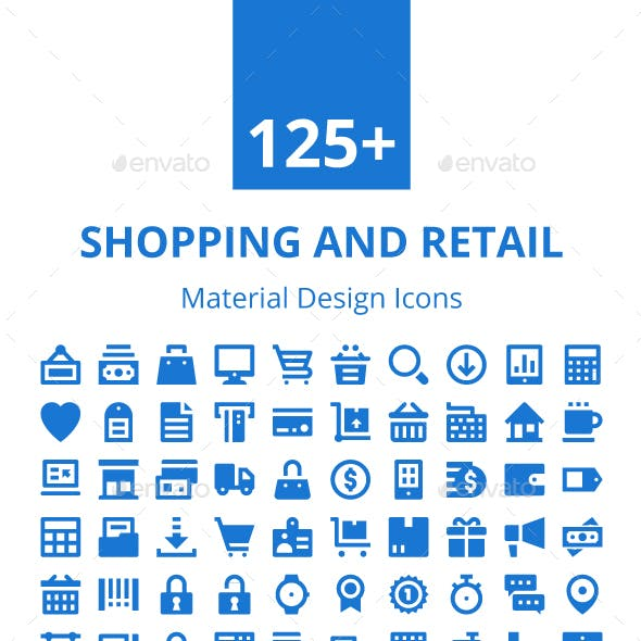 125+ Shopping and Retail Icons Set