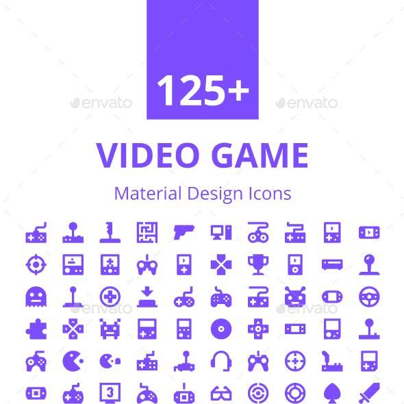 125+ Video Game Material Design Icon