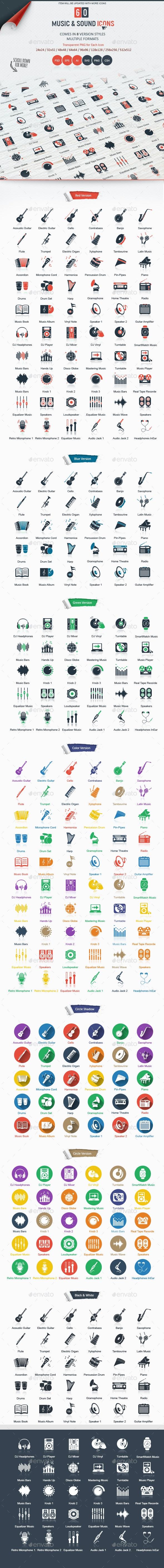 Music & Sound Icons - Media Icons