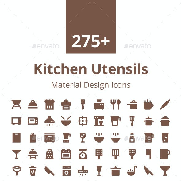 275+ Kitchen Utensils Material Icons