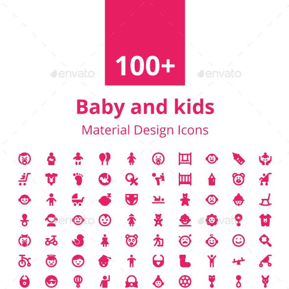 100+ Baby and Kids Material Icons