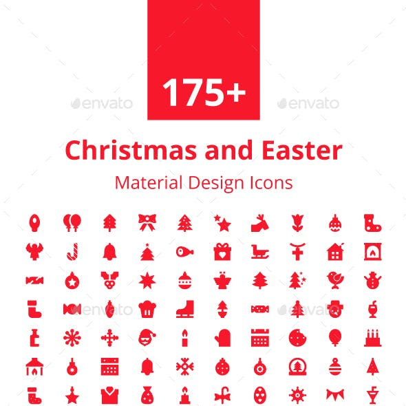 175+ Christmas and Easter Icons