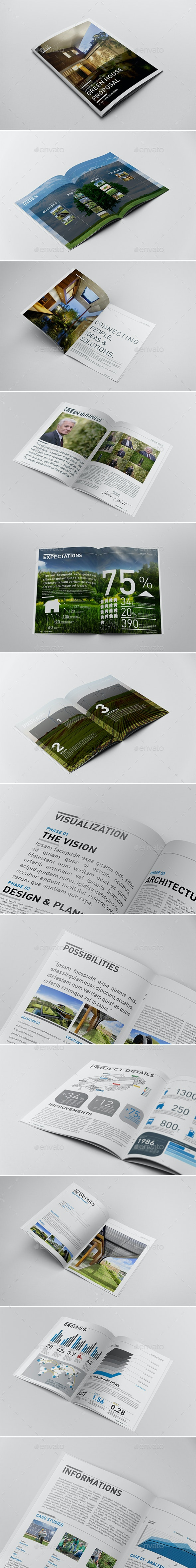 Annual Report Proposal Template - Magazines Print Templates
