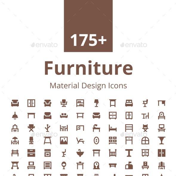 175+ Furniture Material Design Icons