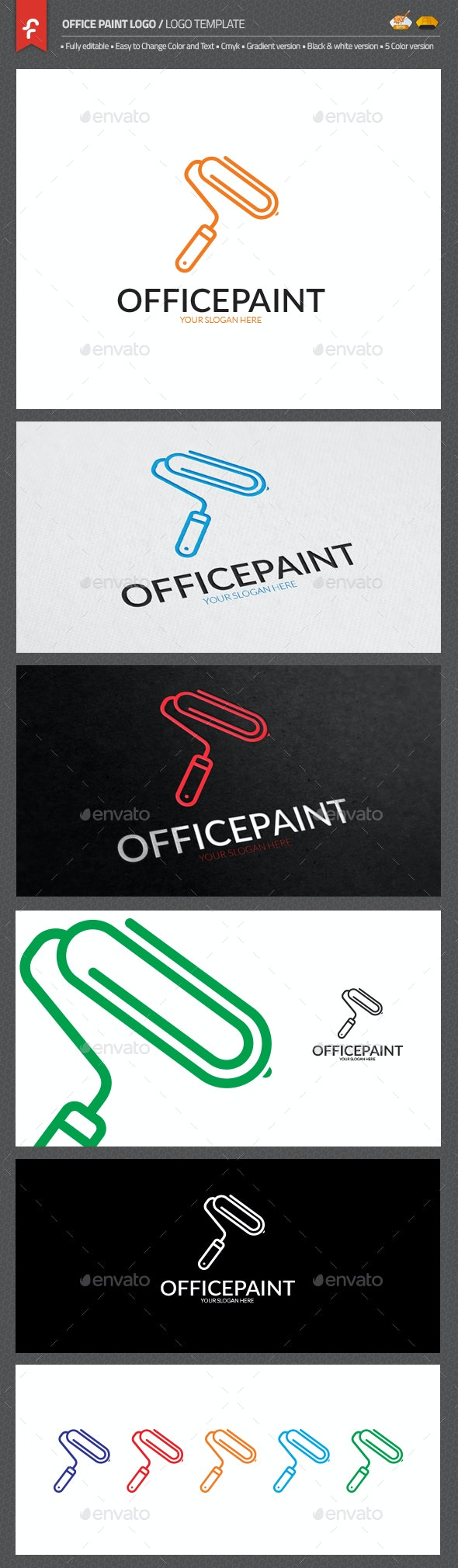 Office Paint Logo - Objects Logo Templates