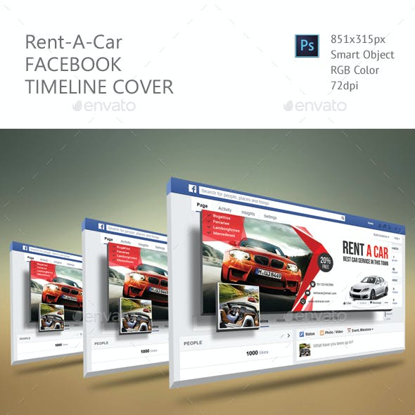 Rent A Car Facebook Timeline Cover