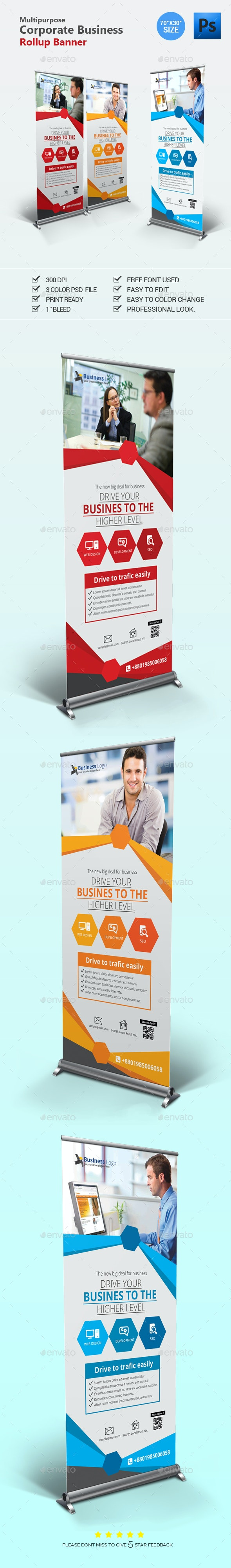 Rollup Banner Design - Signage Print Templates