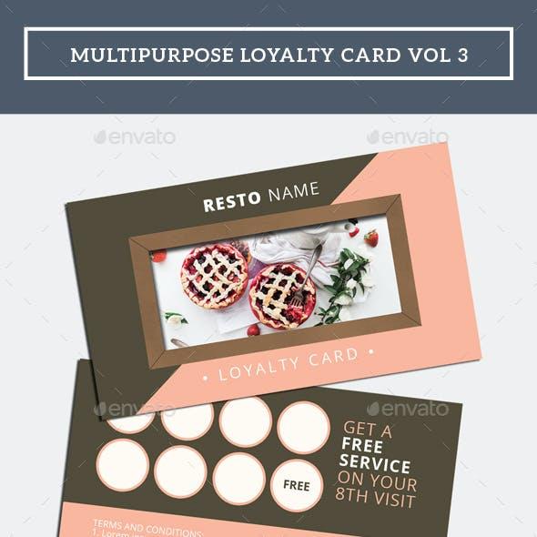 Multipurpose Loyalty Card Vol 3