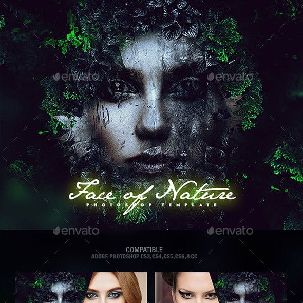 Face of Nature Photo Template