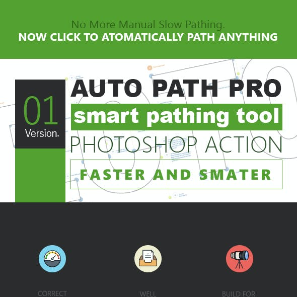 Auto Path Pro - Photoshop Action