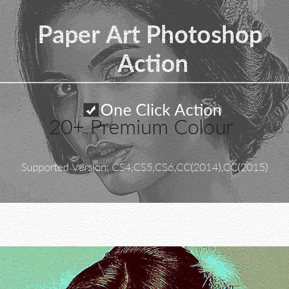 Paper Art Photoshop Action