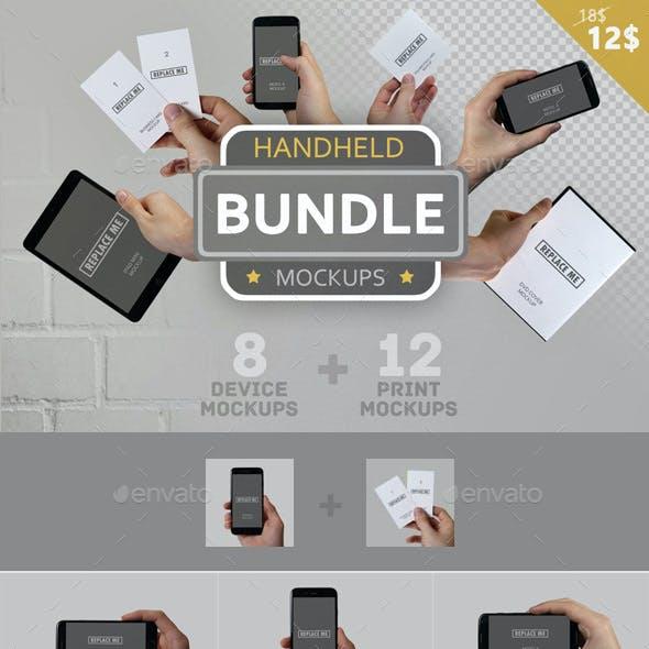 Handheld Mockups Bundle