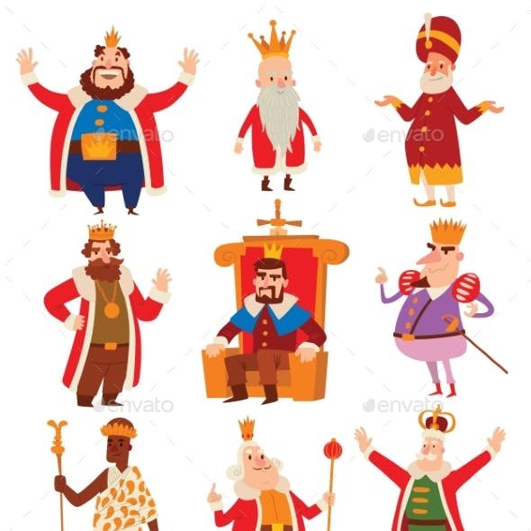 Kings Cartoon Set