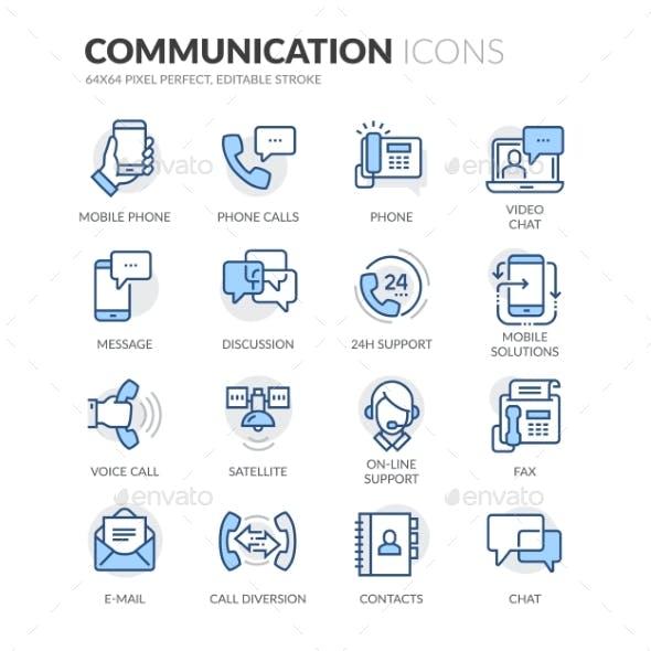 Line Communication Icons