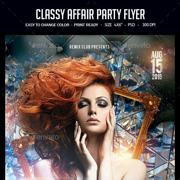 Classy Affair Party Flyer
