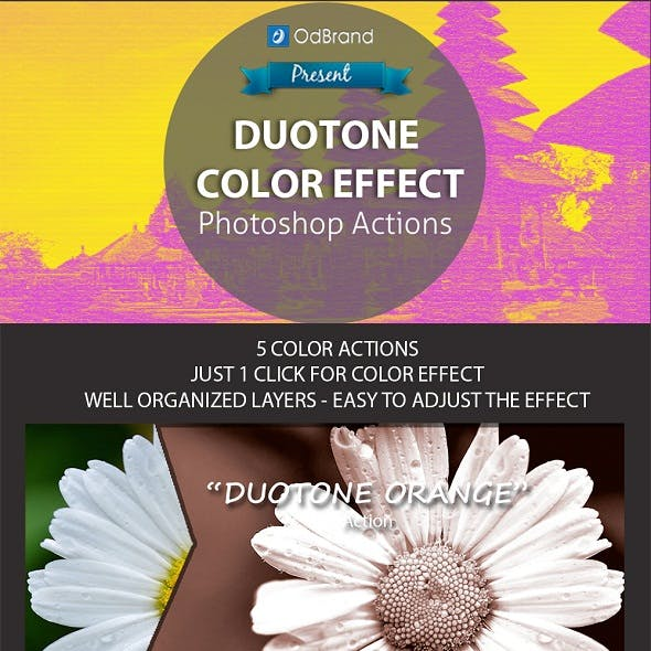 Duotone Color Effect Photoshop Action
