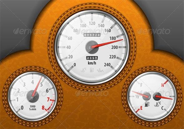 Car Dashboard - Sports/Activity Conceptual