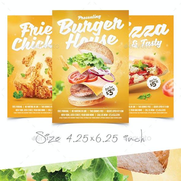 Pizza Chicken Burger Flyer Bundle