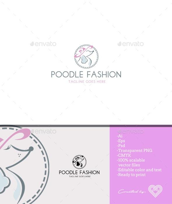 Poodle Fashion - Animals Logo Templates