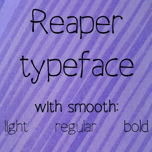 Reaper typeface